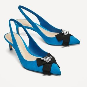 NWT Zara slingback high heel leather sandal 🔥